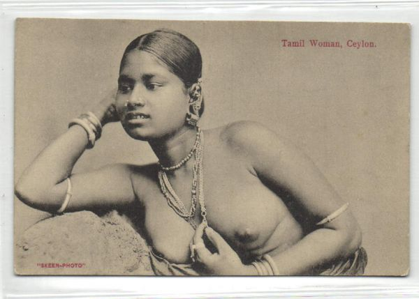 ceylon, Beautiful NUDE Native Rodiya Girl (1910s) Jewelry