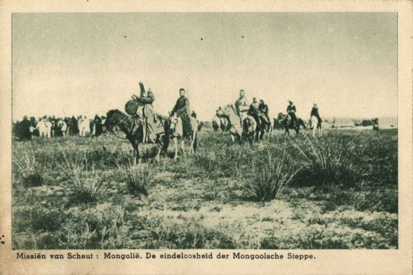 mongolia china, Early Settlers with their Covered Wagons (1920s) Mission