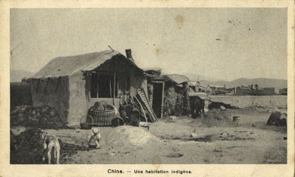 china, An Indigenous Dwelling (1920s) Mission Van Scheut (French Text)