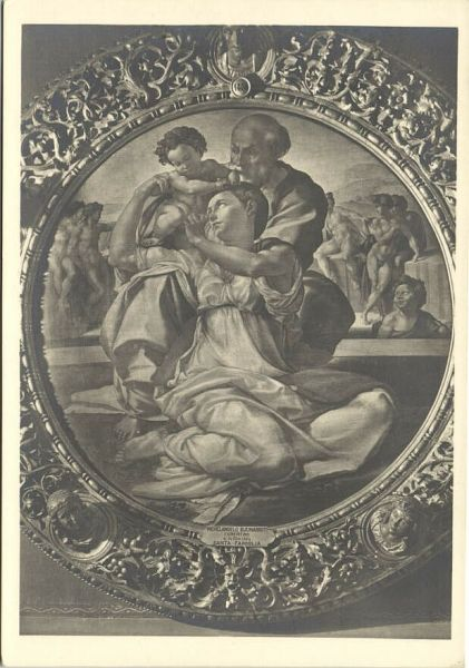 "Michelangelo Painting ""The Holy Family"" (1940s) RPPC"