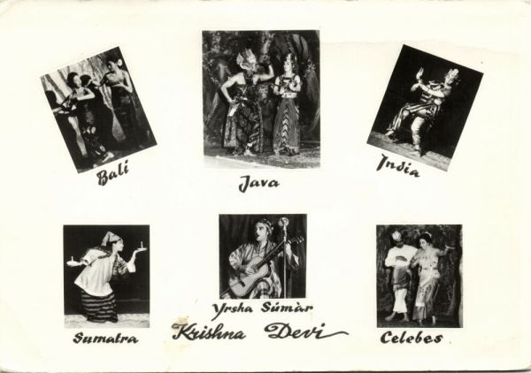 Dance Group Krishna Devi does Dances from Bali, Java, Sumatra and Celebes (1950s) RPPC