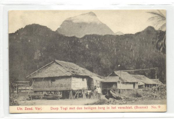 indonesia, Moluccas Maluku, BOEROE BURU, Togi Village, Holy Mountain (1910s) Mission