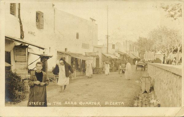 tunisia, BIZERTE BENZERT, Street in the Arab Quarter (1920s) RPPC