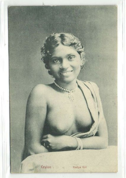 ceylon, Beautiful NUDE Native Rodiya Girl (ca. 1910)