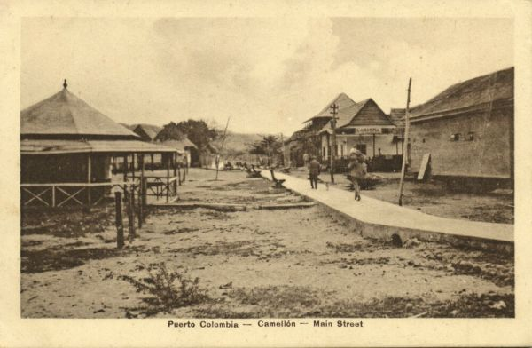 colombia, PUERTO COLOMBIA, Camellón, Main Street, L'Amarina (1910s) J. Isaza A. Editor