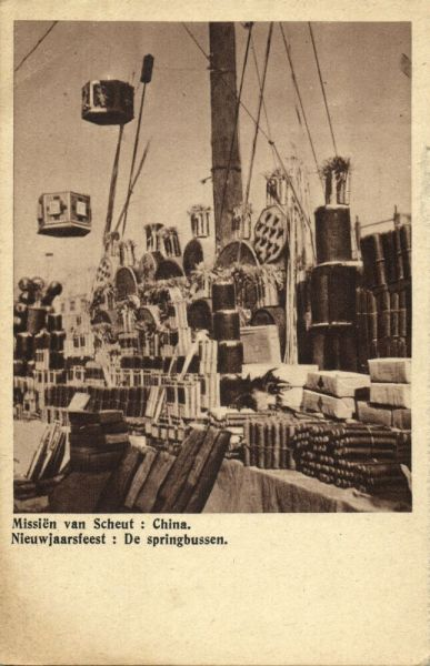 china, New Year's Party, Fireworks (1920s) Mission Van Scheut (Dutch Text)