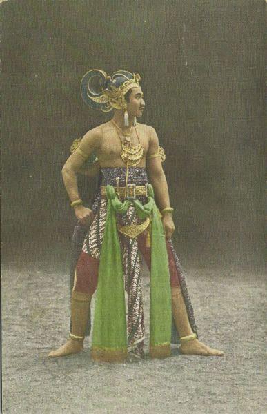 "indonesia, JAVA, Wayang Wajang Wong Dancer ""Ontoseno"", Jewelry (1910s)"