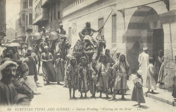 egypt, Native Wedding, Camels, Drums (1910s) LL