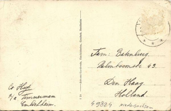 Bendav Postcards - germany, ESCHBACH, Wirthschaft Wehrte