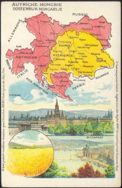 austria-hungary, MAP Postcard (1910s) Remy