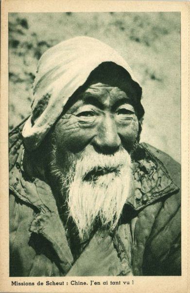 china, Native Old Chinese Man (1930s) Mission