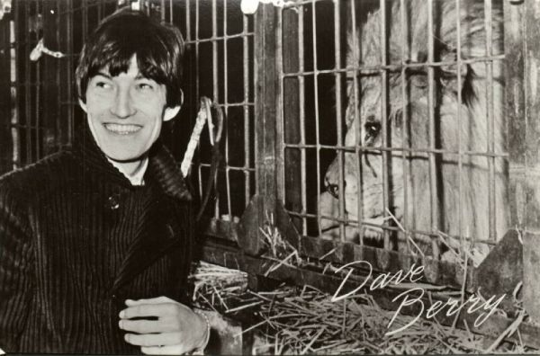 British Pop Singer and Former Teen Idol Dave Berry, Lion ZOO (1960s) RPPC
