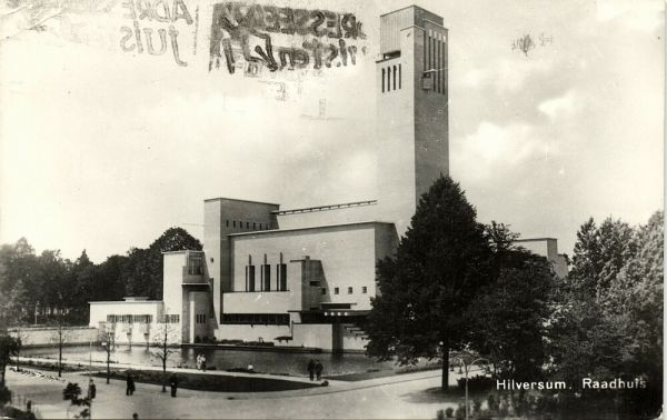 netherlands, HILVERSUM, Raadhuis, Town Hall, Built 1928-31 Architect Willem Marinus Dudok, RPPC
