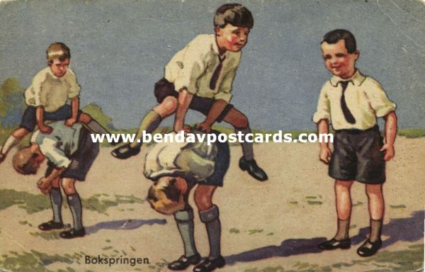 Young Boys playing Leapfrog (1934)