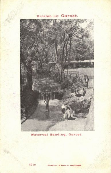 indonesia, JAVA GAROET GARUT, Waterval Sanding (1899)