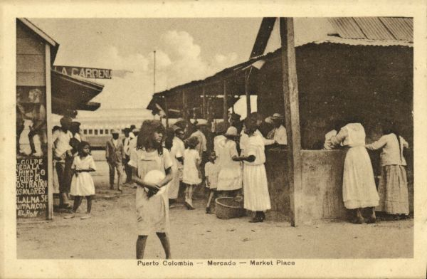 colombia, PUERTO COLOMBIA, Mercado, Market Place (1910s) J. Isaza A. Editor